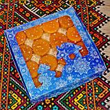 Подарочный набор круглых чайных восковых свечей 15г (16шт.) в коробке Синий Снег, фото 6