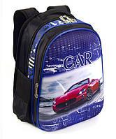 Школьный рюкзак 1, 2, 3 класс для мальчика. Портфель ранец ортопедический полу каркасный Машинка