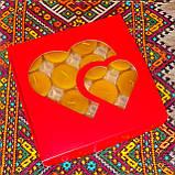 Подарочный набор круглых чайных восковых свечей 15г (16шт.) в коробке Красный Домик, фото 7