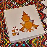 Подарочный набор круглых чайных восковых свечей 15г (16шт.) в коробке Красное Сердце, фото 5