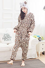 Кигуруми хелоу китти леопардовый (пижама, костюм детский, женский, мужской комбинезон)