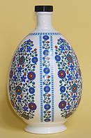 """Писанка """"Голубые цветы"""", графин 0,75 л, фарфор,  подарок на Пасху"""