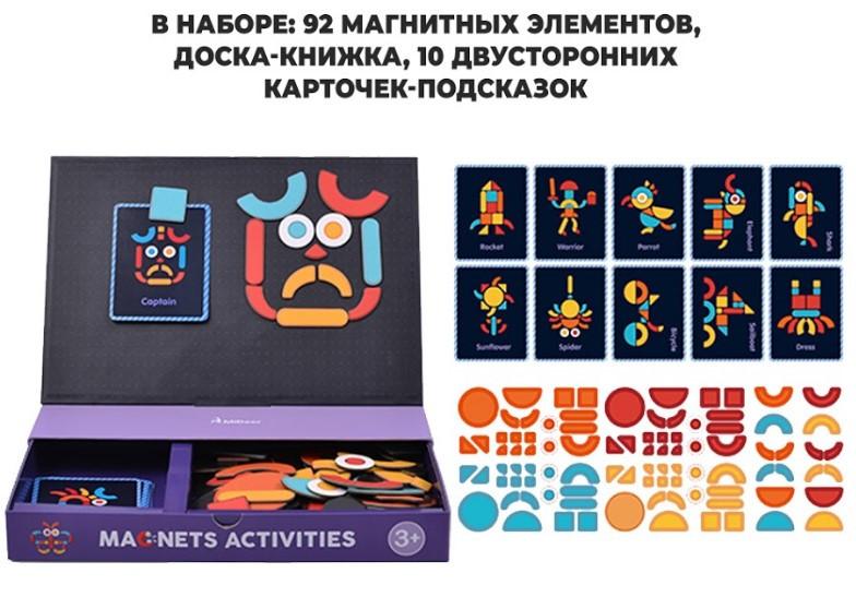 Магнитная книга MiDeer Геометрия 92 элемента (MD1041), фото 6