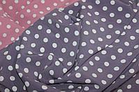 Ткань супер софт , горох класический размер. Цвет фиолетовый нюд. №136, фото 1