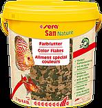Sera San Nature корм для рыб Сера Сан хлопья 100 граммов, фото 4