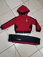 Детский спортивный костюм Among Us для мальчика 2-6 лет,бордового цвета