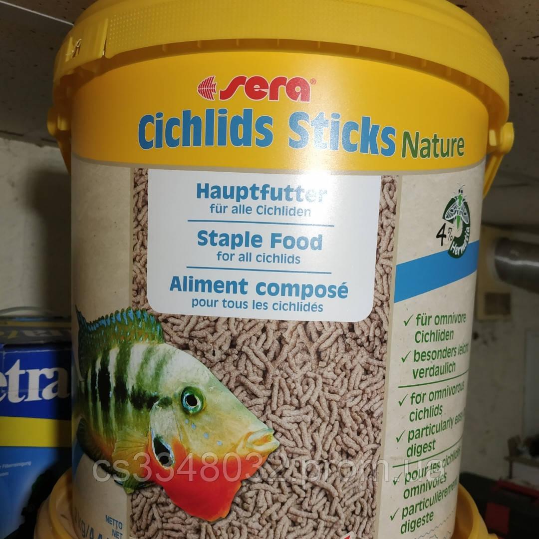 Sera Cichlids Sticks Nature корм для рыб Сера цихлид цихлид Стикс 100 граммов