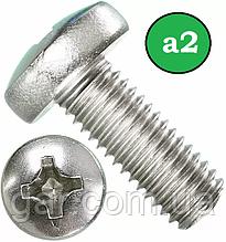 Гвинт М2 нержавіючий DIN 7985 A2