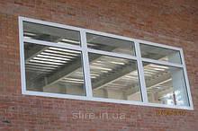 Окна противопожарные алюминиевые