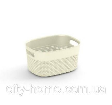 """Корзина для хранения  KIS """"Filo Basket XS"""" (23,5х17,5х12 см) кремовая."""