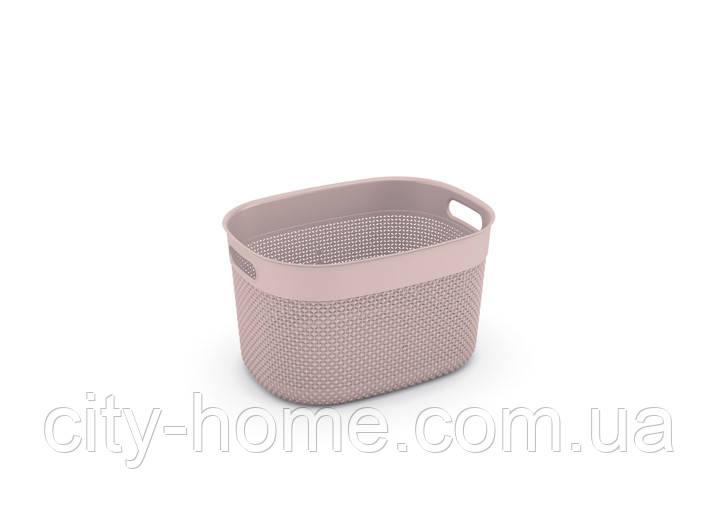 """Корзина для хранения KIS """"Filo Basket L"""" (38х29х22 см) розовая."""