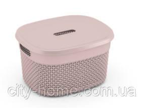 """Кошик для зберігання з кришкою KIS """"Filo Basket S"""" (27х22х15 см) рожева."""
