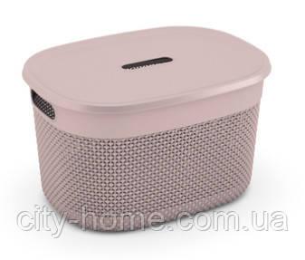 """Корзина для хранения с крышкой  KIS """"Filo Basket L"""" (38х29х22 см) розовая., фото 2"""