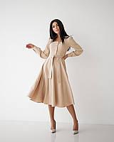 ✔️Модное женское платье отрезное с поясом 46-50 размера разные расцветки