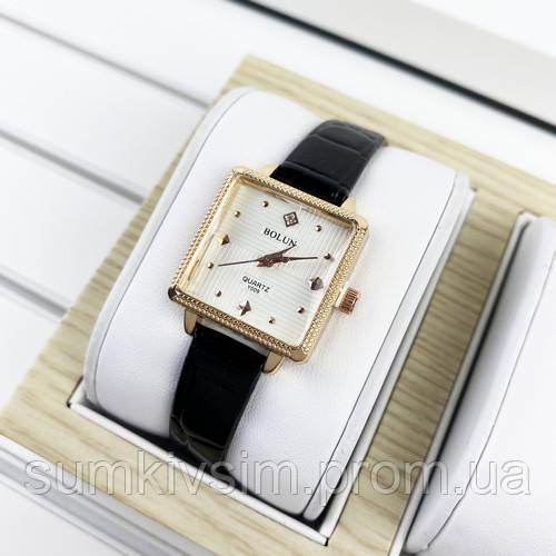 Женские часы Bolun 5598L Black-Gold-White