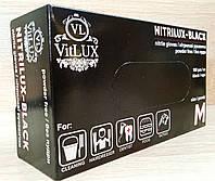 Перчатки нитриловые неопудренные Черные M (NITRILUX BLACK) 100шт/уп
