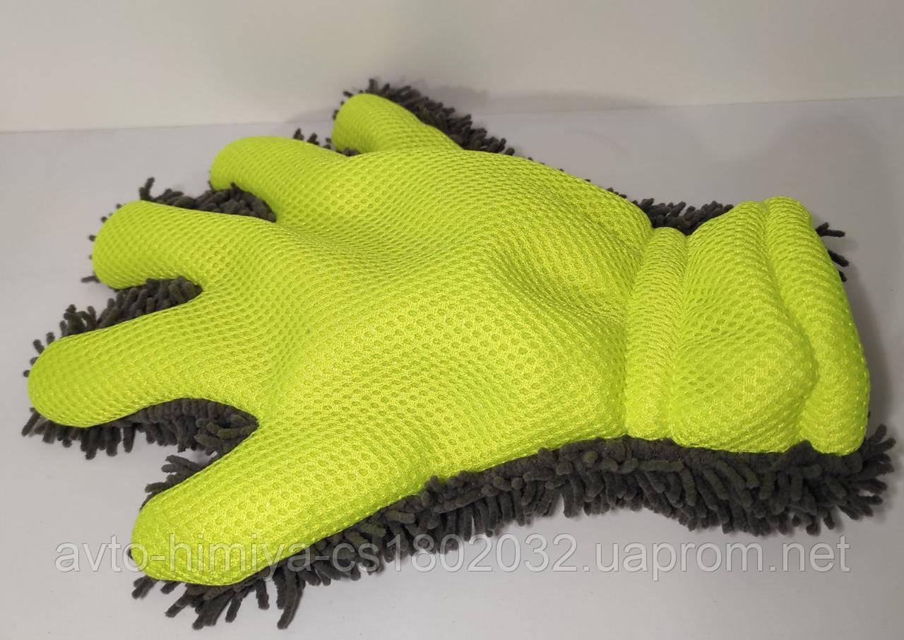 Микрофибра профессиональная губка-рукавица.