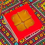 Подарочный набор квадратных чайных восковых свечей (4шт.) в коробке Красное Сердце, фото 5