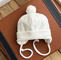 """Демісезонна шапочка """"Noble"""" 0-3 міс. (сіра), фото 1"""