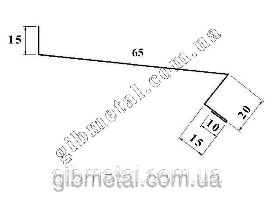 """Отлив """"ArcelorMittal"""" (Германия, Польша, Бельгия), 125, RAL 3005 PEMA"""