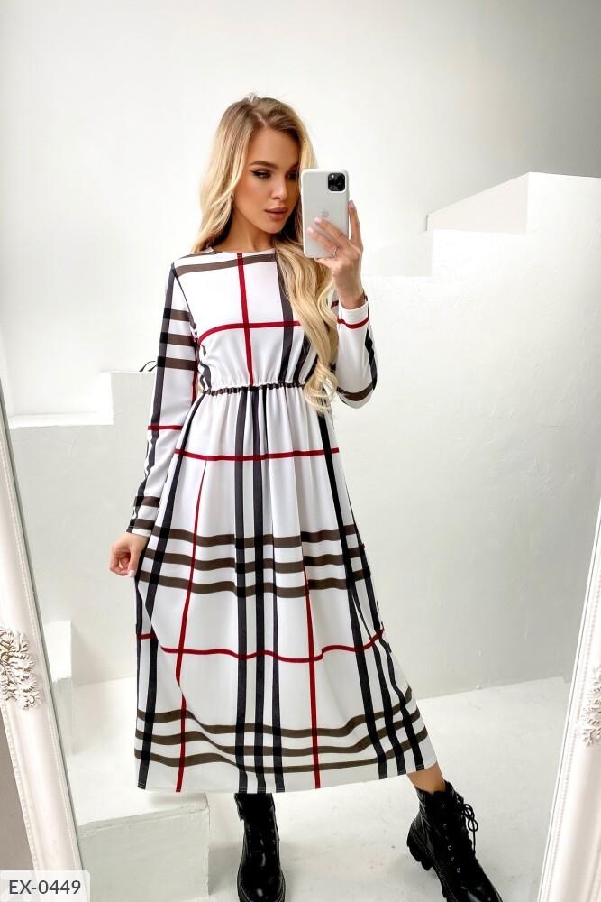 Сукня жіноча в клітку з трикотажу гарного крою р-ри 42-48