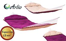 Гамак тканинний бузкового або бежевого кольору Arlio MONACO. Сімейний з планкою 3.4 м х 1.4 м