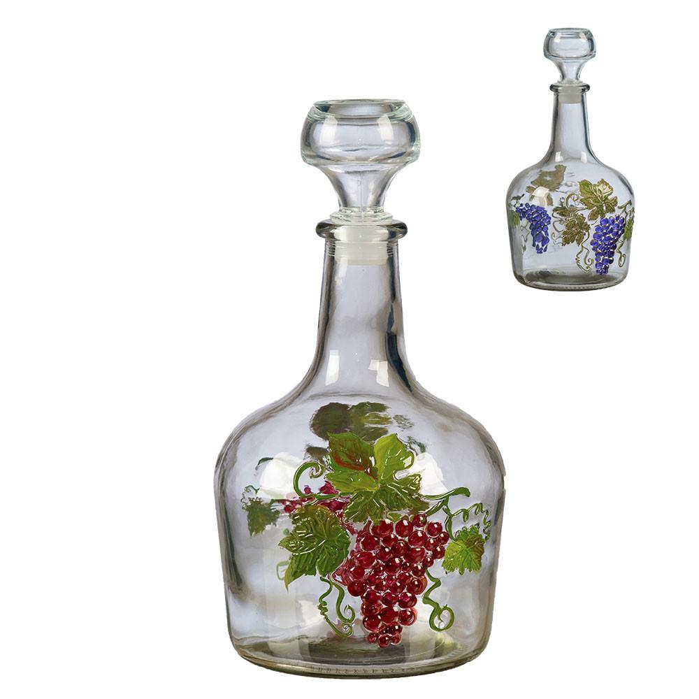 """Бутылка стеклянная 1,5л """"Фуфырек"""" ручная работа"""