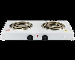 Электроплита DOMOTEC MS-5532 двойная - настольная электрическая плита на две конфорки с широкими тэнами