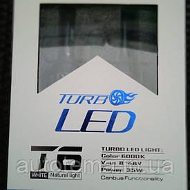Світлодіодні автомобільні лампи Turbo T6 Led H7 35W 3500LM 6000K