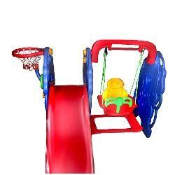 Детская горка Bambi М 0263 с качелей и баскетбольным кольцом