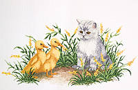 Котик и утята Набор для вышивки крестом RTO R186