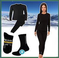 Термобелье женское зимнее теплое норвежское Bioactive, комплект женского термобелья