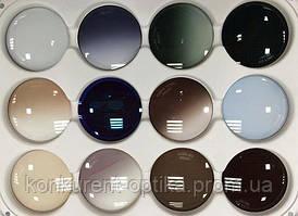 Минеральная стеклянная солнцезащитная линза разного окраса