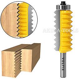 Фреза для зрощування деревини (мікрошип) (мікрошип) по ширині і довжині по дереву VOLFIX FZ-120-514 d8