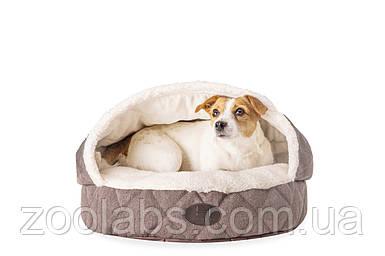 Лежак с капюшоном для собак Cover Brown. Harley and Cho