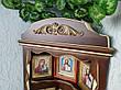 Домашний иконостас ручной работы из дерева навесной, настольный от производителя (цвет на выбор), фото 4