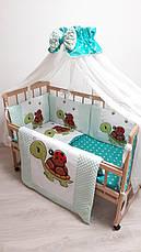 """Набір постільної білизни в дитячу ліжечко/ манеж """"Слоник"""" - Бортики / Захист в ліжечко, фото 3"""
