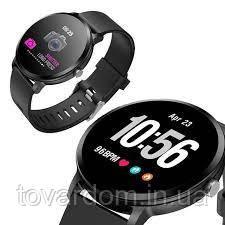 Smart Watch часыV 11, Фітнес годинник з IPS дисплеєм, тонометр, пульсометр, крокомір Чорні