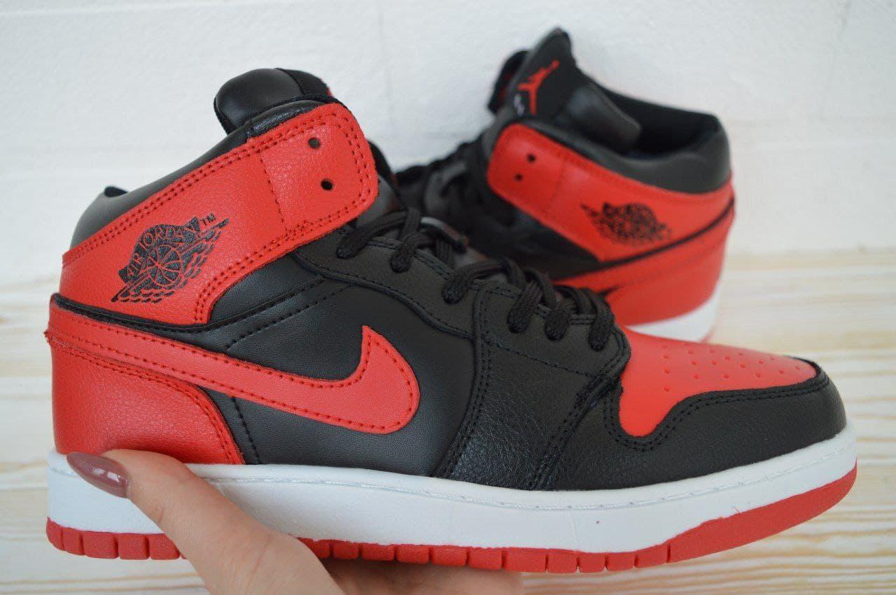 Кроссовки  в стиле Jordan черные | красные 41, 42, 43, 44, 45, 46
