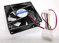 Кулер вентилятор в корпус 0.1 А 12в 80x80x25 мм (8 см) 12в Molex, фото 1