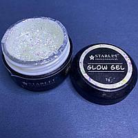Глиттер-гель для дизайна ногтей Starlet Professional Glow Gel , №03