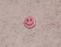 Гудзик Смайлик рожевий 550-31 поштучно, фото 1