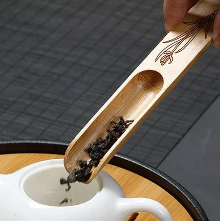 Деревянная мерная лопатка для чая