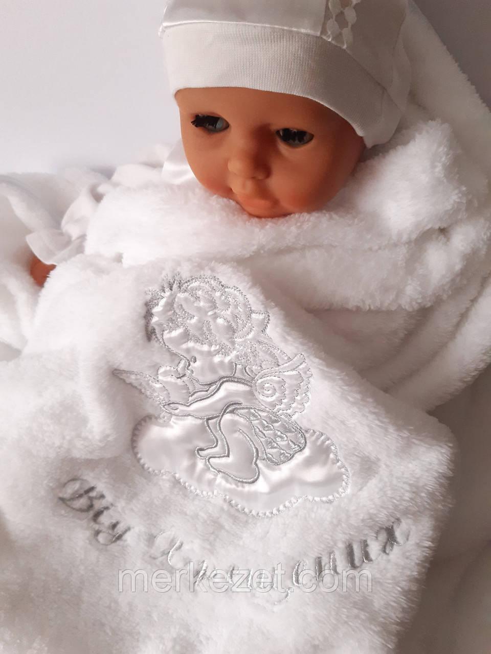 Махровий рушник для хрещення. Крижмо «Прекрасний янгол». Хрещення дитини, крижма
