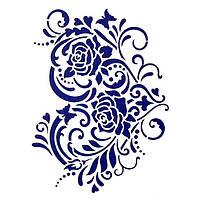 Трафарет декоративний 215х320 мм Квіткове серце