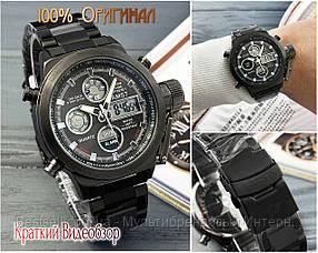 Оригінальні Чоловічі Наручні годинники AMST 3003 Silver-Black Metall / сталевий ремінець