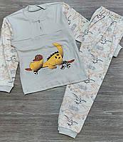 Піжама підліткова трикотажна Скейт для хлопчика 8-12 років,колір світло-сірий