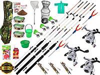 Набор рыболовный, Оснащённые удочки и спиннинги, Комплекты рыболовные, готовые наборы для рыбалки, спиннинг!