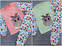 Пижама подростковая трикотажная Совушка для девочки 8-12 лет,цвет микс в ростовке