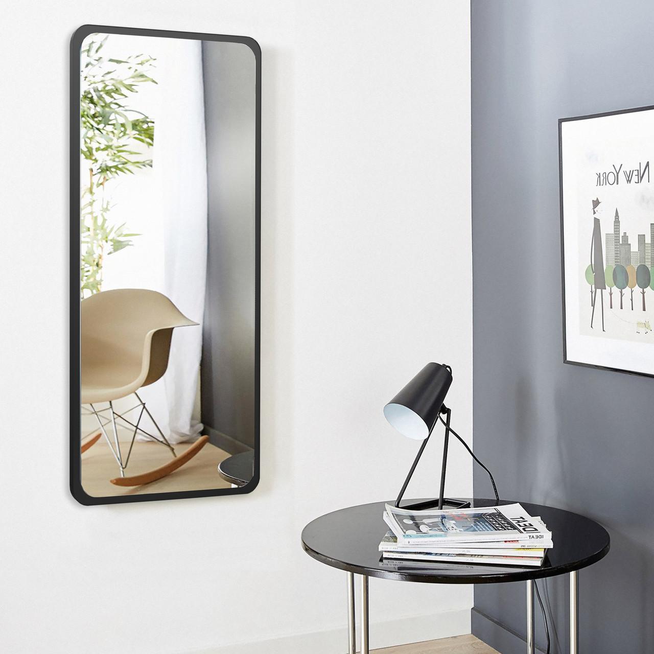 Зеркало ростовое 1300 х 600 мм черное